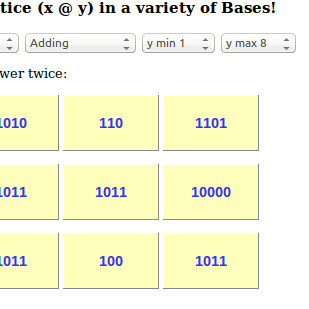 link to arithmetic app in base 10 etc